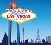miasta las szyldowy Vegas wolcome Obrazy Royalty Free