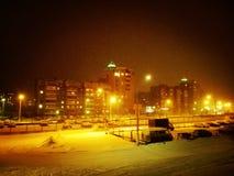 miasta Latvia noc Riga miasteczko Zdjęcie Royalty Free