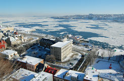 miasta Lawrence Quebec rzeki st Obraz Royalty Free