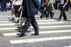 miasta ludzie skrzyżowanie Zdjęcia Stock