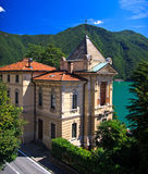 miasta Lugano willa Fotografia Royalty Free