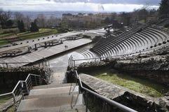 miasta Lyon rzymski theatre widok szeroki Zdjęcie Stock