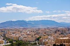 miasta Malaga widok obrazy royalty free