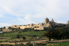miasta Malta mdina s cichy Zdjęcia Royalty Free