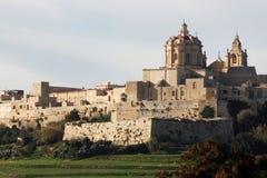 miasta Malta mdina s cichy Zdjęcia Stock