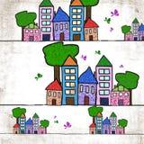 miasta malujący tło Zdjęcia Stock