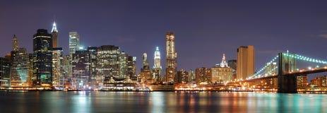 miasta Manhattan nowa linia horyzontu York Obrazy Stock