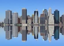 miasta Manhattan nowa linia horyzontu York Zdjęcie Stock