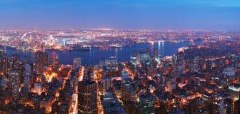 miasta Manhattan nowa linia horyzontu York Zdjęcia Royalty Free