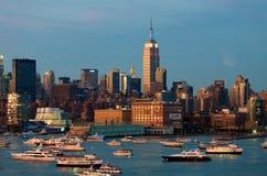 miasta Manhattan nowa linia horyzontu York Obraz Stock