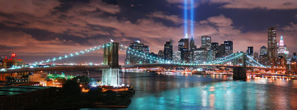 miasta Manhattan nowa panorama York Zdjęcia Royalty Free