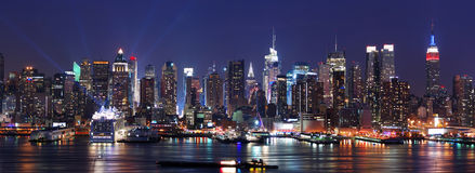 miasta Manhattan nowa panoramy linia horyzontu York Obraz Stock