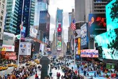 miasta Manhattan nowi kwadratowi czas York Obrazy Royalty Free