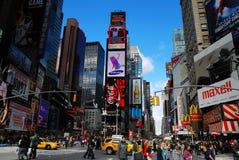 miasta Manhattan nowi kwadratowi czas York Fotografia Royalty Free