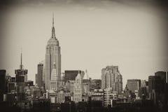 miasta Manhattan nowi linia horyzontu drapacz chmur York Fotografia Stock