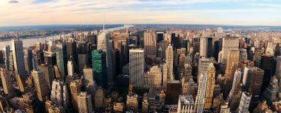 miasta Manhattan nowy zmierzch York Zdjęcie Stock