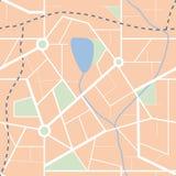 miasta mapy wzór bezszwowy Fotografia Royalty Free