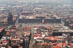 miasta Mexico zocalo Zdjęcia Royalty Free