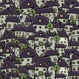 Miasta nakreślenie, bezszwowy wzór dla twój projekta Obrazy Royalty Free