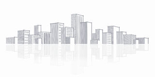 miasta nakreślenia linia horyzontu Obraz Royalty Free