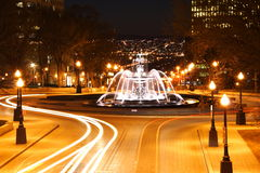miasta noc Quebec scena Fotografia Stock