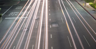 miasta noc ruch drogowy Fotografia Stock