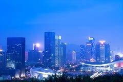 miasta noc scena Shenzhen zdjęcie royalty free