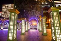 miasta noc sceny Taipei Taiwan Zdjęcia Stock