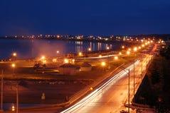miasta noc ulica Zdjęcie Royalty Free