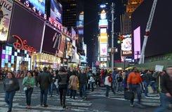 miasta nowy noc kwadrat synchronizować York obrazy stock