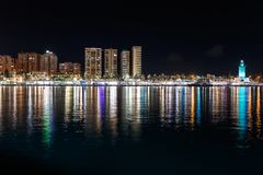 Miasta odbicie cityscape zdjęcia royalty free