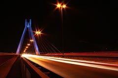 miasta półksiężyc noc deszcz Zdjęcia Stock