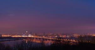 miasta półksiężyc noc deszcz Obraz Stock