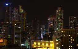 miasta półksiężyc noc deszcz Zdjęcia Royalty Free