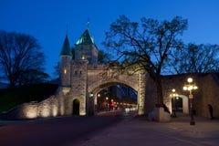 miasta półmrok fortyfikująca Quebec ściana zdjęcie royalty free