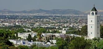 miasta panoramiczny Tunis widok Zdjęcie Stock