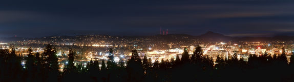 miasta panoramy linia horyzontu fotografia stock