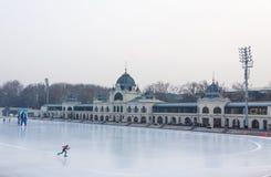 Miasta Parkowy Lodowy lodowisko w Budapest, Węgry Fotografia Royalty Free