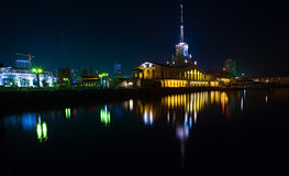 miasta port morski Sochi Zdjęcie Royalty Free