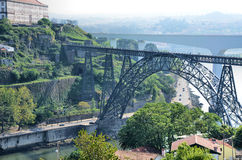 miasta Porto kolei dwa widok Obraz Royalty Free