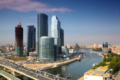 miasta powikłani Moscow drapacz chmur Fotografia Stock