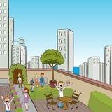 miasta przyjęcia taras royalty ilustracja