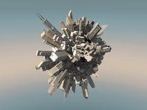 miasta przyszłości sfera Obraz Royalty Free