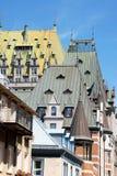 miasta Quebec dachy Obraz Royalty Free
