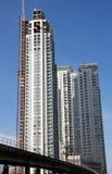 miasta rozwoju wysoki wzrost zdjęcia royalty free