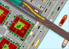 miasta ruch drogowy Royalty Ilustracja