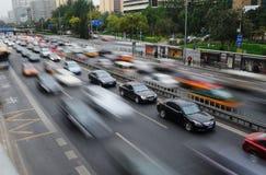 miasta ruch drogowy Zdjęcia Royalty Free