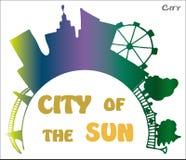 miasta słońca brzmienia grżą kolor żółty Zdjęcia Royalty Free