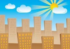 miasta słońce Zdjęcia Royalty Free