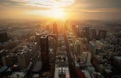miasta słońce Fotografia Royalty Free